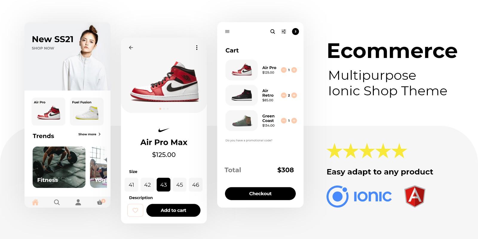 Ecommerce – Multipurpose Ionic 5 Store Theme