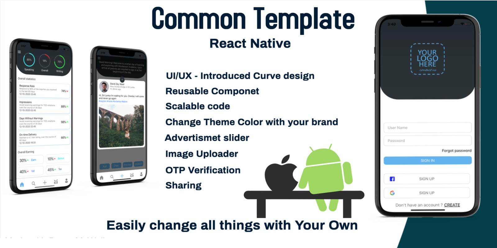 Common Template - React Native