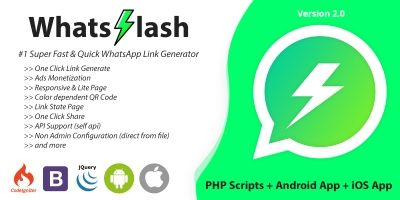 WhatsFlash - Quick WhatsApp Link Generator
