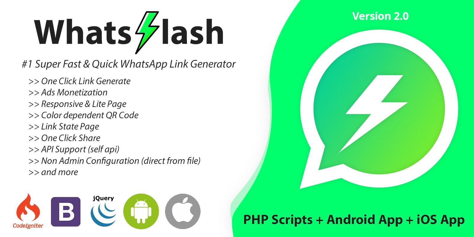 WhatsFlash - Quick WhatsApp Link Generator