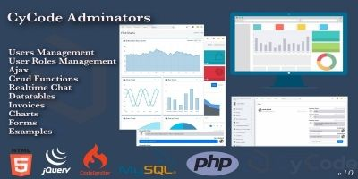 CyCode Adminators - CodeIgniter Admin Panel