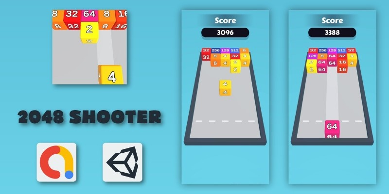 2048 Shooter - Unity Source Code