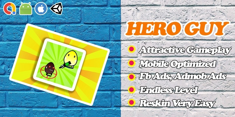 Hero Guy - Action Survival Unity Game Template