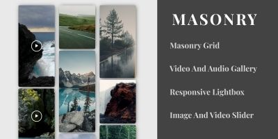Masonry Video and Image Grid Gallery
