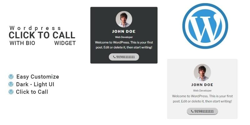 Click To Call With Bio - WordPress Widget  Plugin