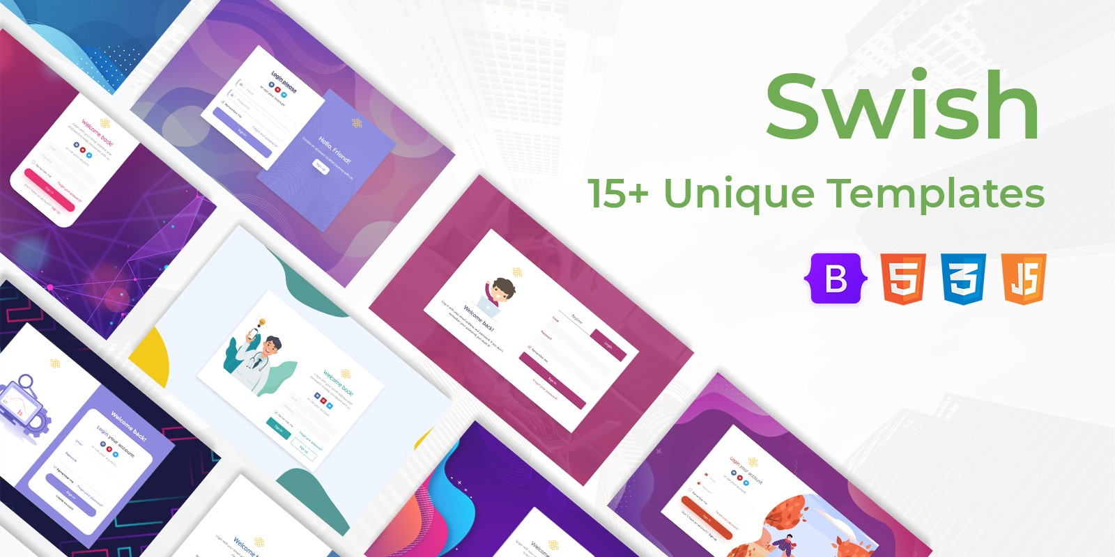 Swish - Login and Register HTML5 Templates