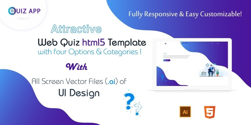 Web Quiz HTML5 Template And UI Design