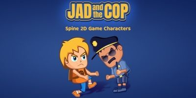 JAD And The COP Spine 2D Game Characters