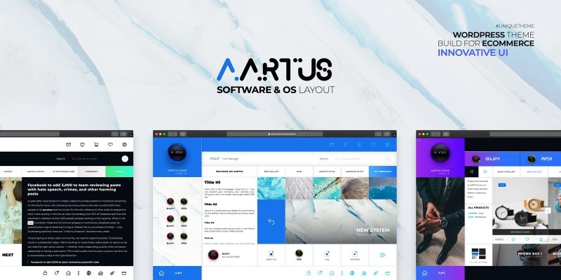 Aartus - Ecommerce OS Software Wordpress Theme
