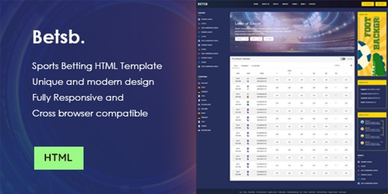 BetsB - Sports Betting HTML Template