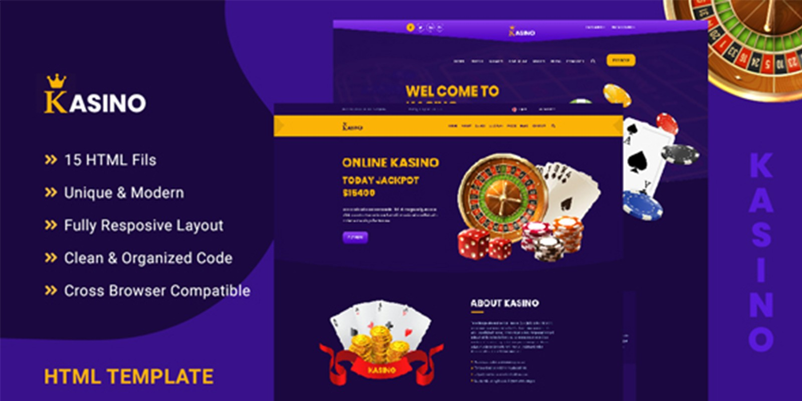 Kasino - Casino HTML Template