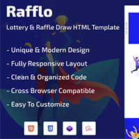 Rafflo - Lottery And Raffle Draw HTML Template