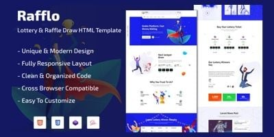 Rafflo - Lottery And Raffle Draw HTML Template