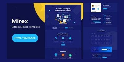 MiRex - Bitcoin Mining HTML Template