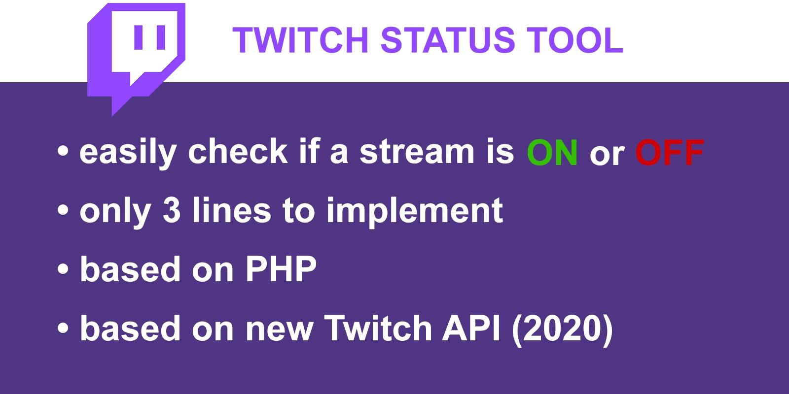 Twitch Status Tool PHP Script