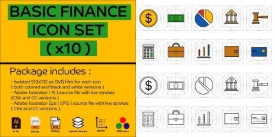 Basic FinanceI icon Set