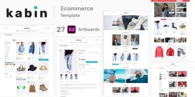 Kabin - Fashion And Clothing eCommerce XD Template