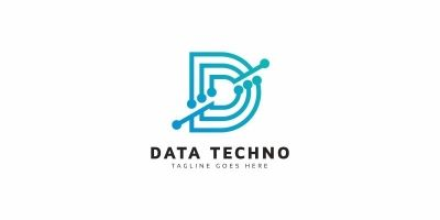Data Tech D Letter Logo