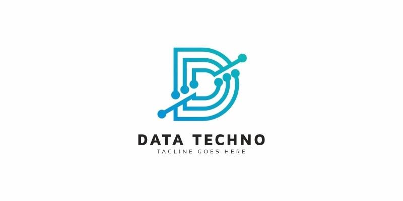 Data Tech D Letter Logo