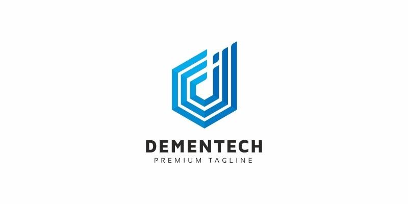 D Letter Line Logo