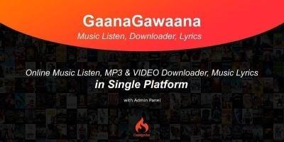 GaanaGawaana - Music Platform PHP Script