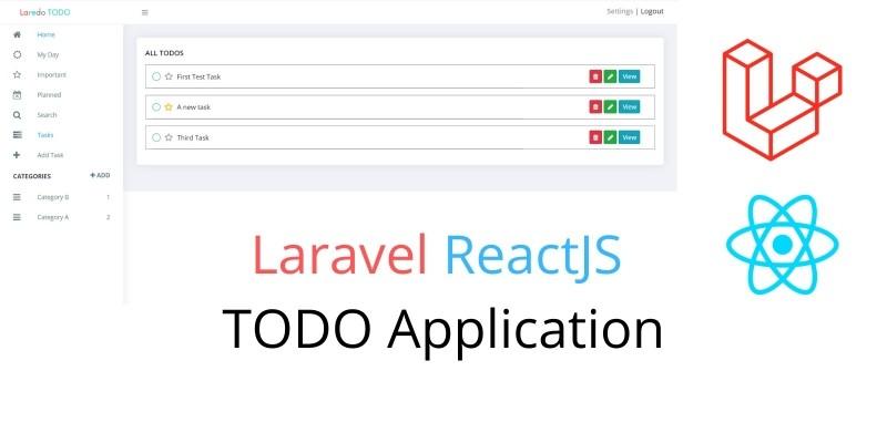 Laravel ReactJS Todo Application