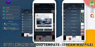 Android IP TV  Streaming Local Files -  App Templa