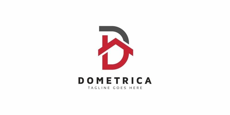 D Letter House Logo