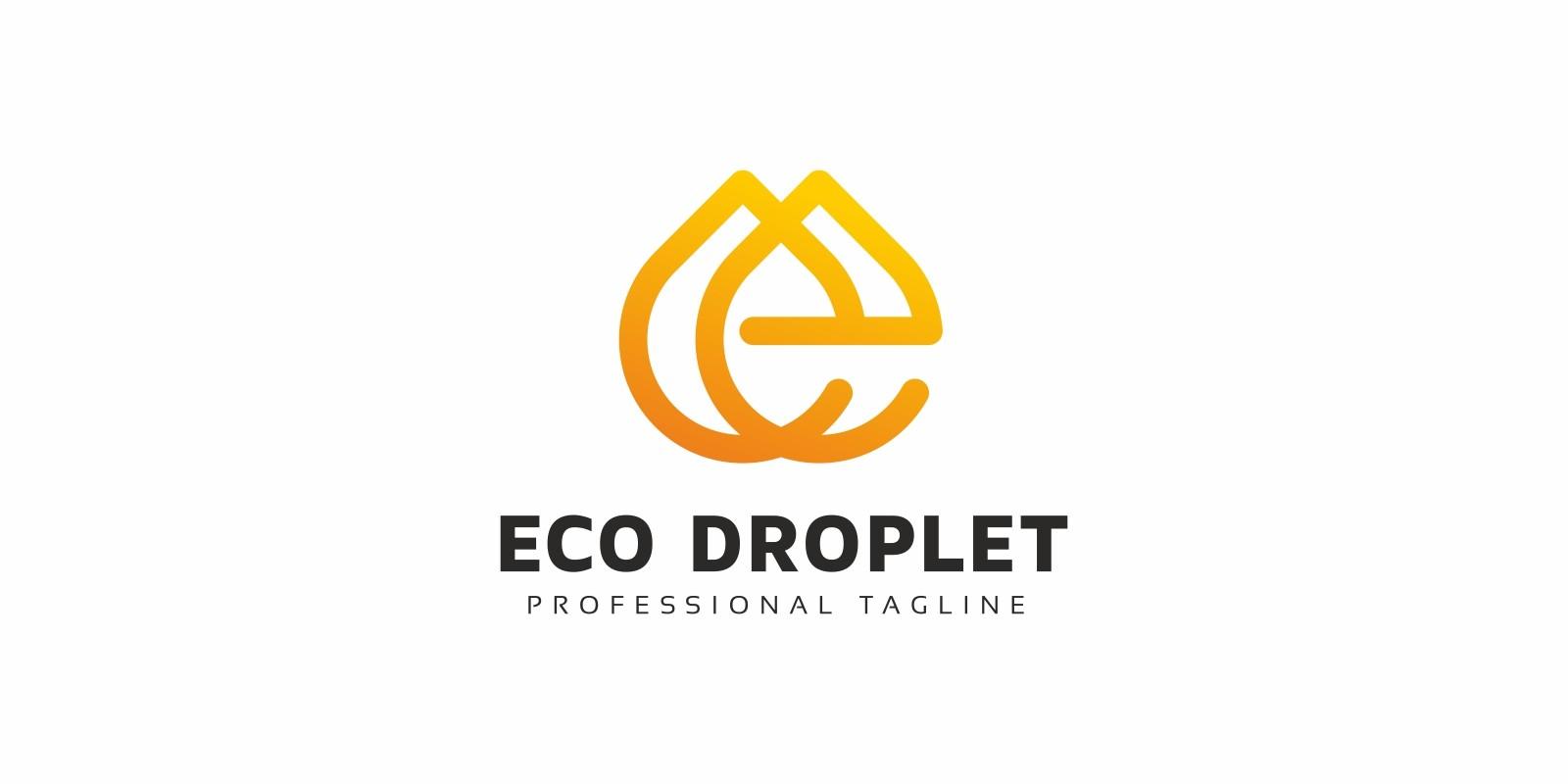 Eco Droplet E Letter Logo