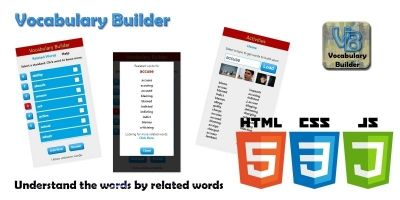 Vocabulary Builder HTML5 JavaScript