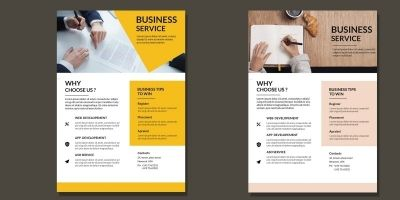 Clean Corporate Flyer Fully Editable  Pack Of 2