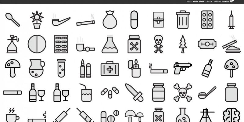 200+ Drugs Vector icon