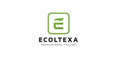 E Letter Eco Logo