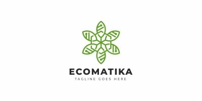 Eco Leaves Tech Logo