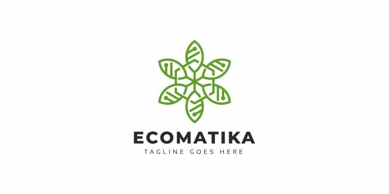 Eco Leaves Tech Logo