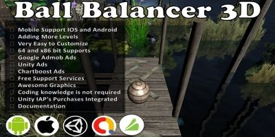 Ball Balancer 3D Unity Source Code