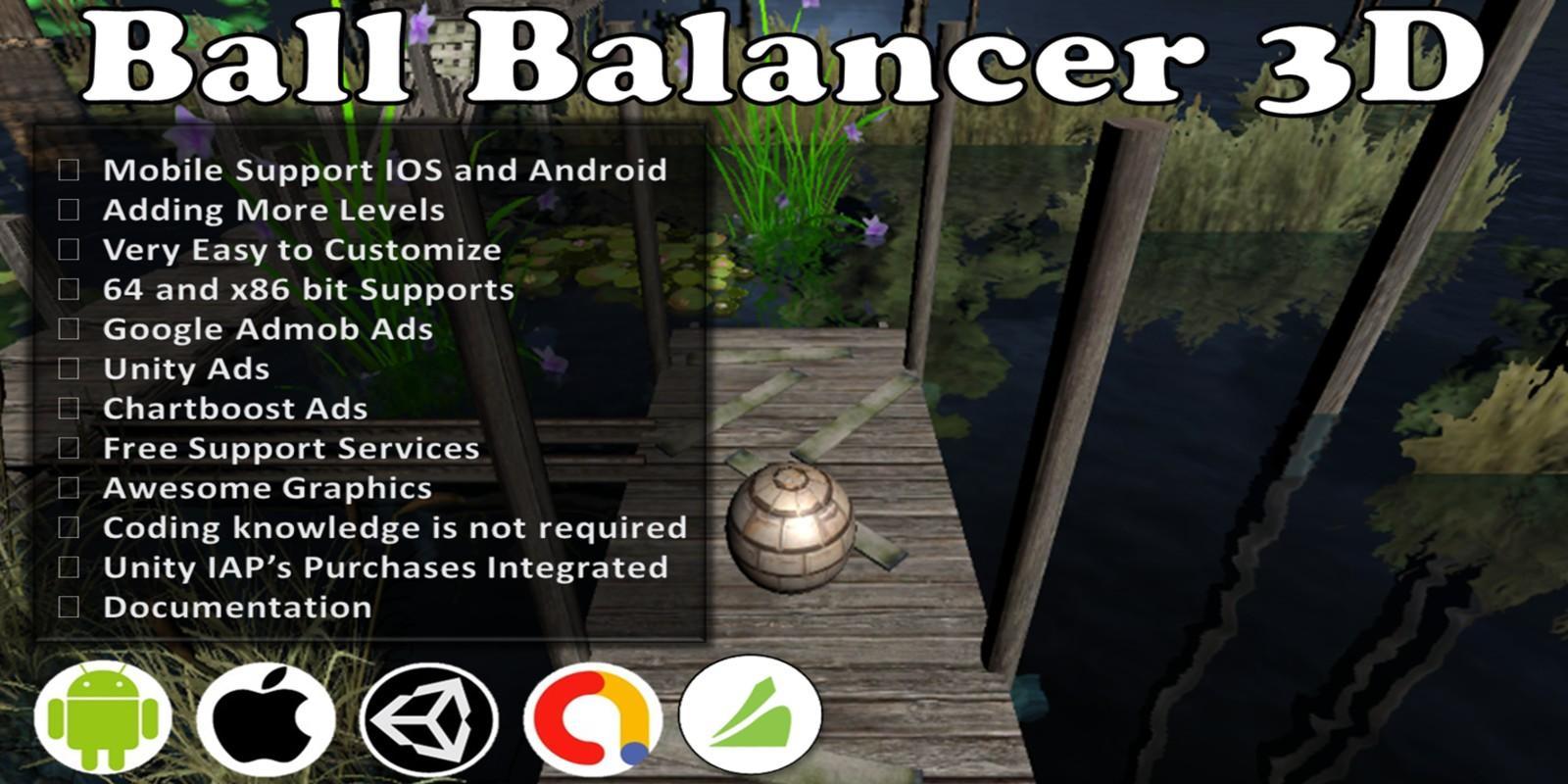 Ball Balancer 3D Unity Source Code