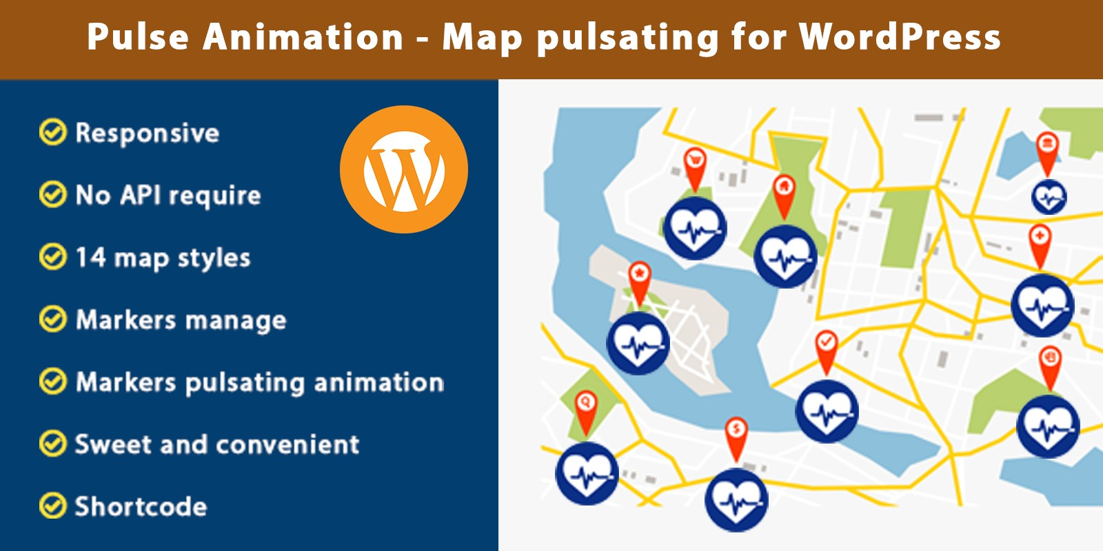 Pulse Animation - Map pulsating For WordPress