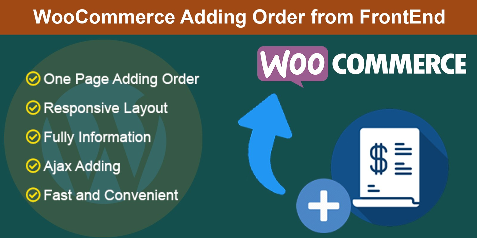 WooCommerce Adding Order From FrontEnd
