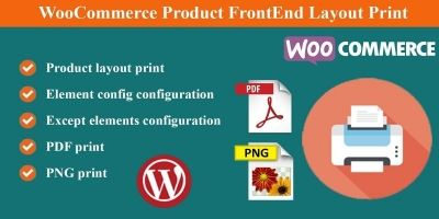 WooCommerce Product FrontEnd Layout Print