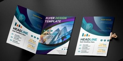 Corporate Flyer Design Template Pack Of 2
