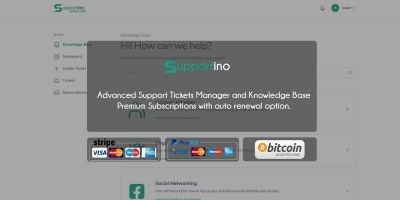 Supportino - Support Desk with Subscriptions