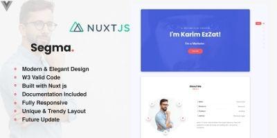 SegmaVue - Nuxt  Personal Portfolio Template