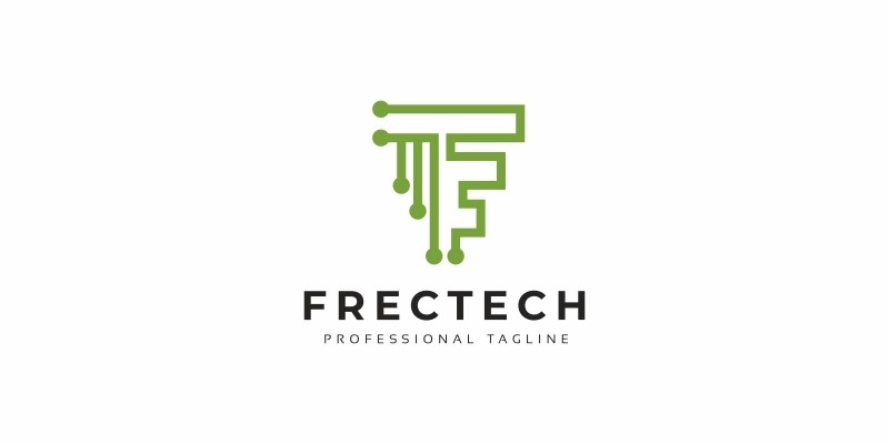F Letter Tech Logo