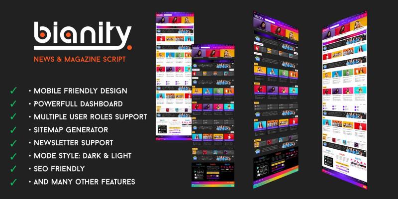 Platform And Blog News CMS