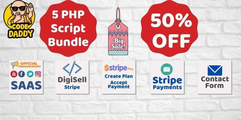 5 PHP Stripe Scripts Bundle Offer