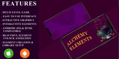 Alchemy And Elements  - Construct 2 Game