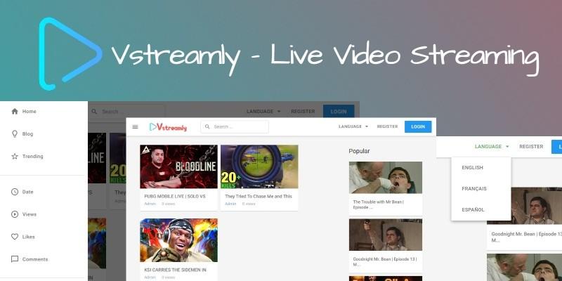 Vstreamly - Live Video Streaming Script