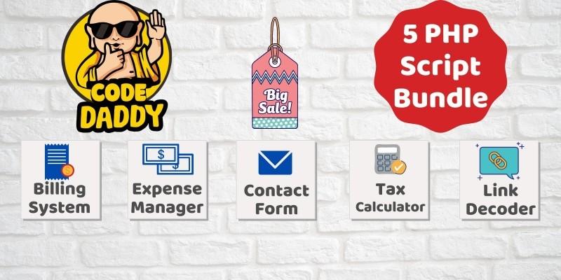 5 PHP Scripts Bundle Offer - Billing Expense