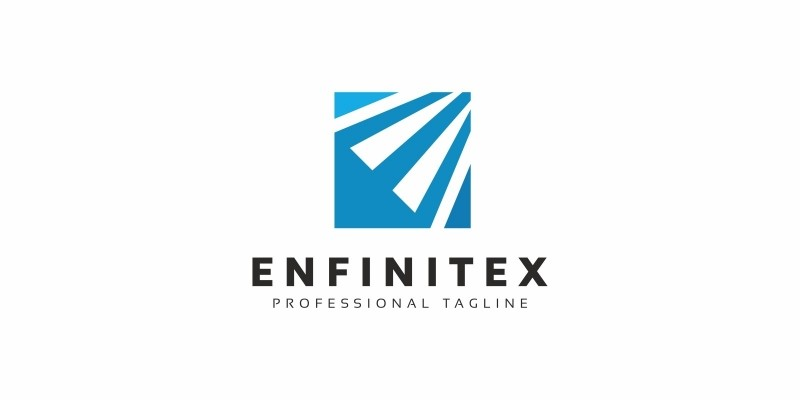 E Letter Square Logo